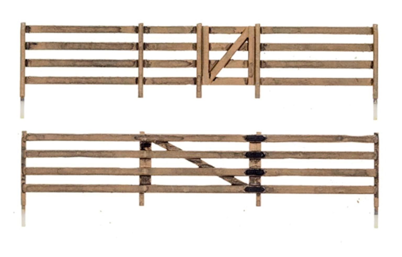 N Scale Board Fence
