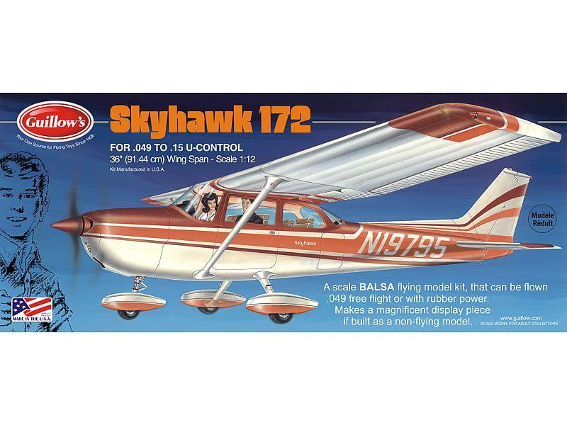 Guillows Cessna Skyhawk 172 Balsa Airplane Flying Model Kit