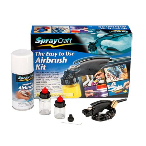 Spraycraft Easy To Use Airbrush Kit for Models, Crafts, Hobbies and DIY