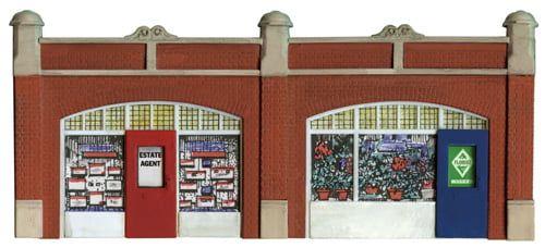 Peco Station Forecourt Shops inc Printed Interiors
