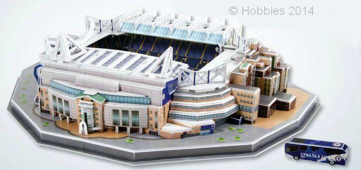 3D Chelsea Football Club Stamford Bridge Stadium Model Kit