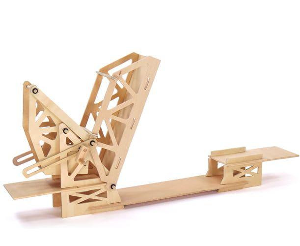 Pathfinders Strauss Bascule Bridge Educational Wood Kit