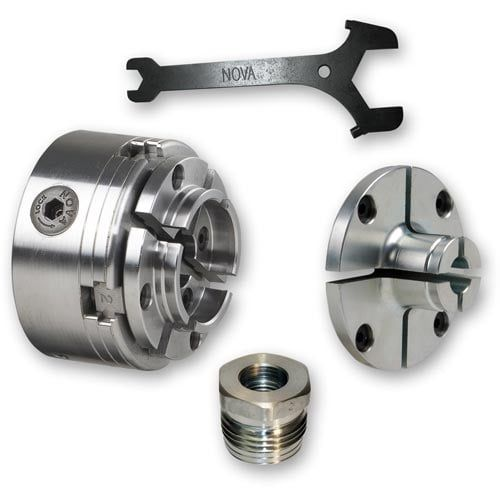 """NOVA SuperNOVA2 Woodturning Chuck 3 4"""" 16tpi UNF RH and Accessories - PACKAGE DEAL"""