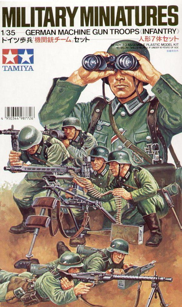 Tamiya German Machine Gun Troops 35th Scale Plastic Models