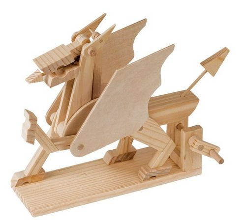 Timberkits Welsh Dragon Griffin Educational Timber Wood Automation Kit