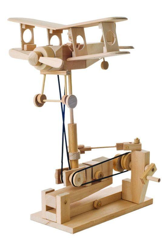 Timberkits Bi-Plane Educational Wood Timber Automation Kit