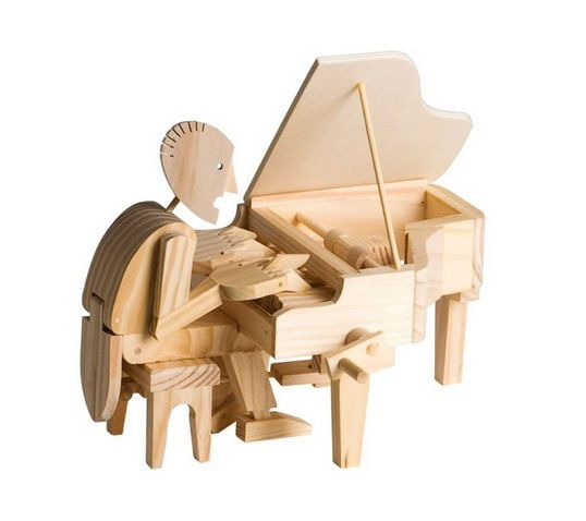 Timberkits Pianist Educational Timber Wood Automation Kit