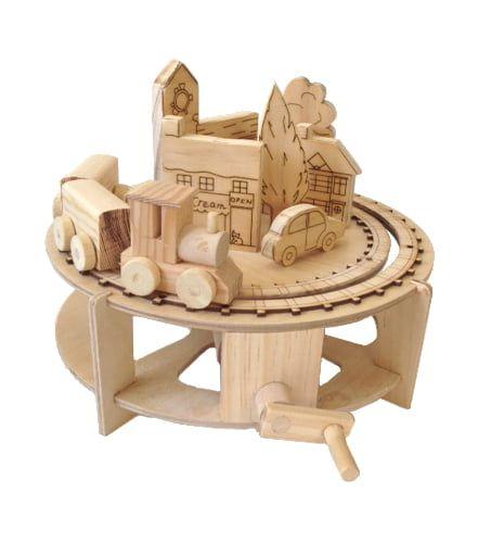 Timberkits The Little Chuffy Train Educational Timber Wood Automation Kit