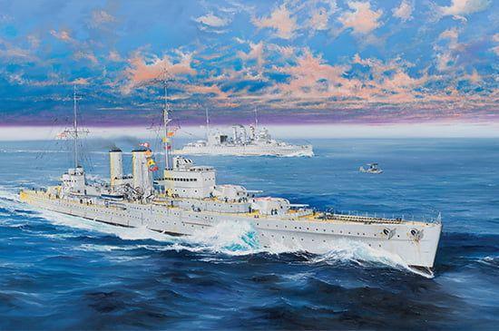 Trumpeter HMS Exeter Heavy Cruiser 1/350th Kit