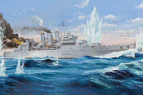 Trumpeter HMS Cornwall Heavy Cruiser 1/350th Kit