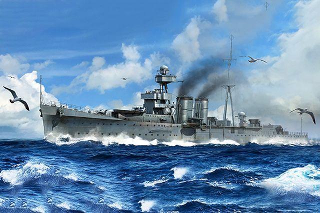 Trumpeter 1/350 HMS Calcutta C-class Light Cruiser Plastic Model Kit