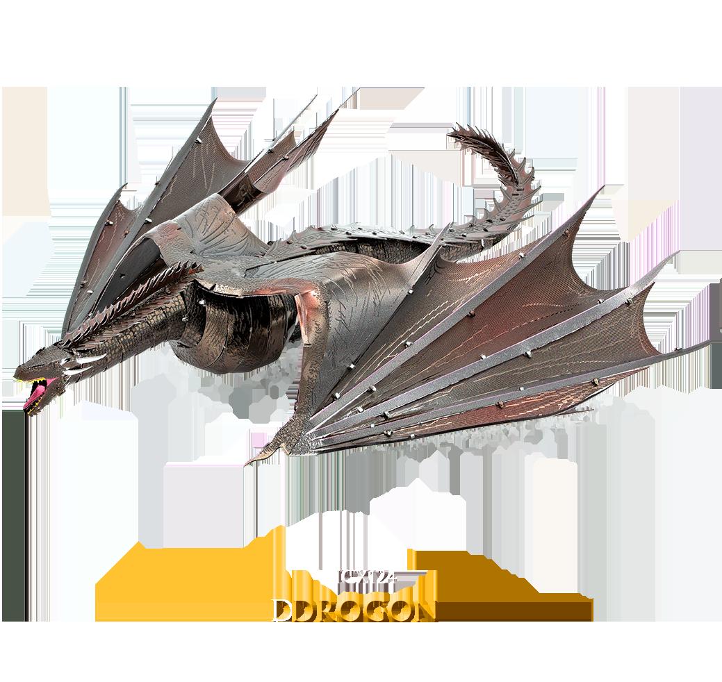 Game of Thrones Drogon 3D Metal Model