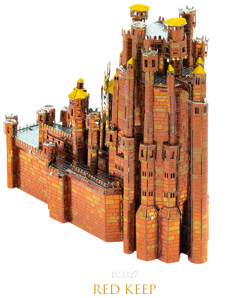 Game of Thrones The Red Keep 3D Metal Model