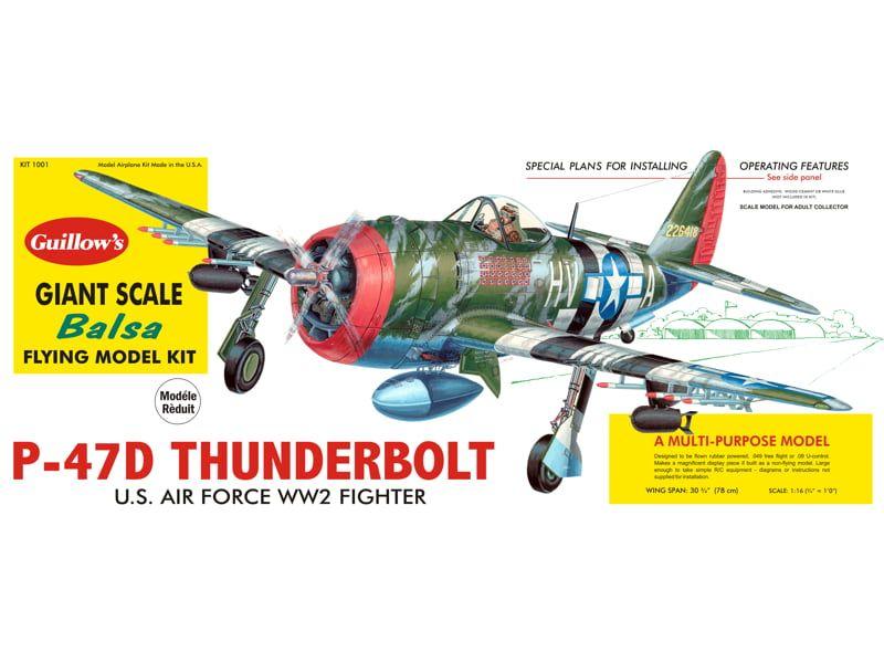 Guillows P-47D Thunderbolt Balsa Model Plane