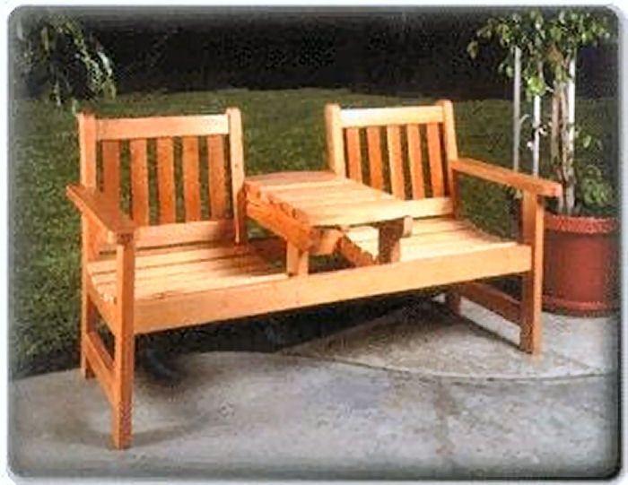 Twin Seater Bench Plan