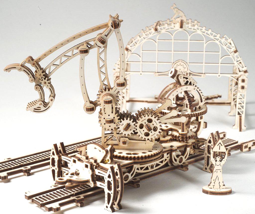 UGears Rail Manipulator Wooden Kit