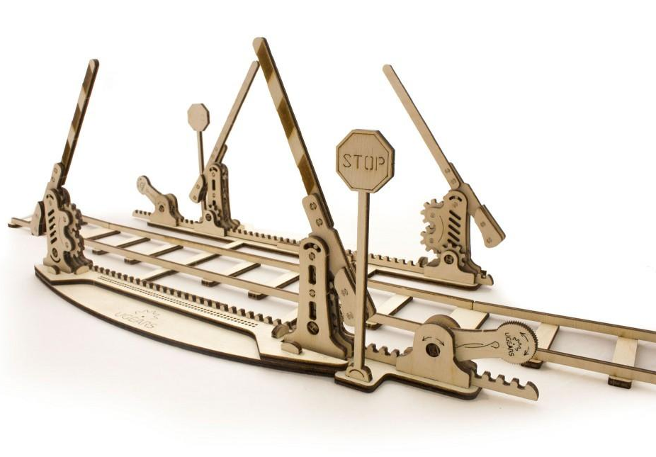 UGears Rails and Crossing Wooden Kit