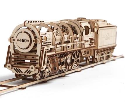 UGears Steam Locomotive Wooden Kit - Locomotive
