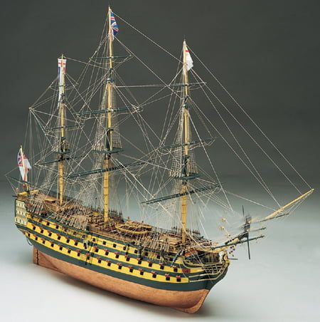 Mantua HMS Victory Nelsons Flagship 1:200 Scale Model Ship Kit - Copper Effect Hull Plating (Optional Extra)