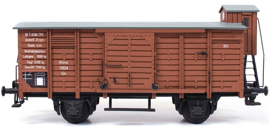Occre Freight Rail Wagon 1:32 Scale G-45 Gauge Metal and Wood Model Kit