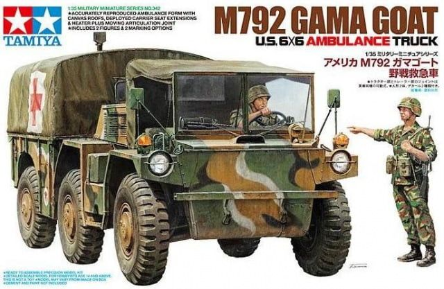 Tamiya M792 Gama Goat US 6x6 Ambulance Truck 1:35 Scale Plastic Model Kit