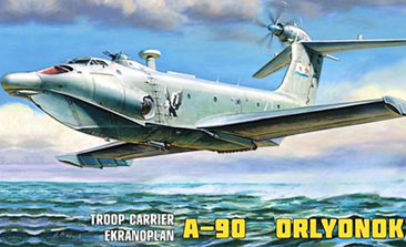 Zvezda Troop Carrier A-90 Ekranoplan 1:144 Scale Plastic Model Kit