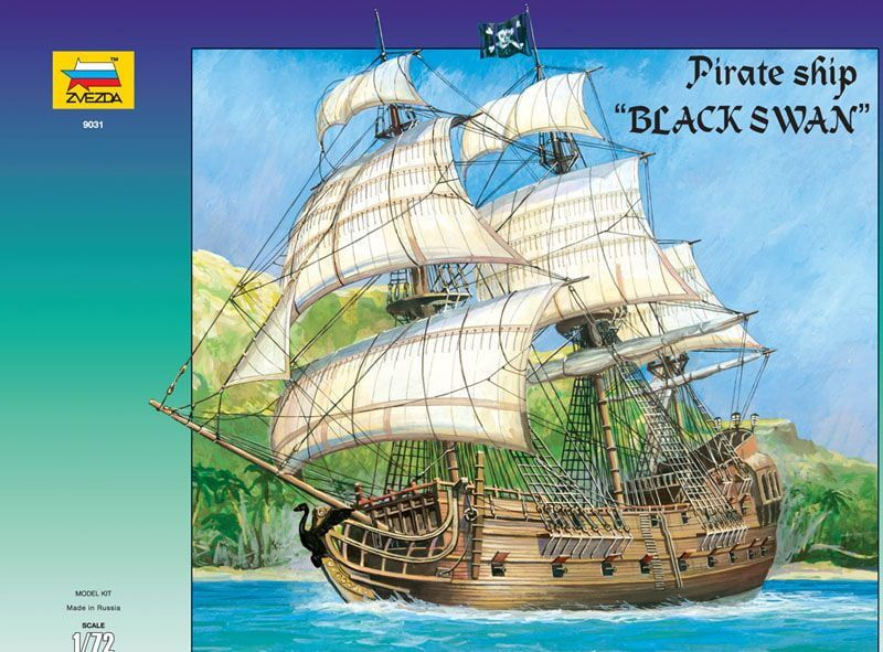 Zvezda Black Swan Pirate Ship 1:72 Scale Model Kit