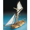 Mantua Models Dutch Naval Gunboat Cannoniera Olandese Ship Kit - Optional Pre-stitched Sail Set