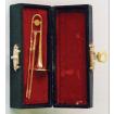 Brass Trombone with Black Case