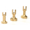 Wooden Varnished Display Boards and Brass Pedestals - Various Sizes