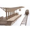 UGears Railway Platform Wooden Kit