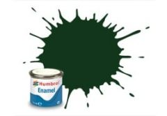 Humbrol Enamel 14ml Tin - No. 195 Dark Green - Satin