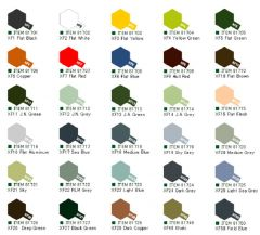 Tamiya Acrylic Flat Paints (10ml) XF1-XF50