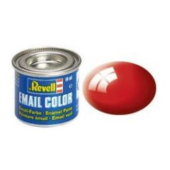 Revell Solid Enamel Gloss Paint - Fiery Red