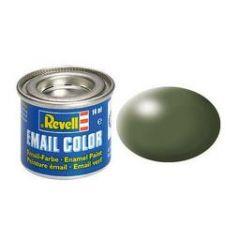 Revell Solid Silk Matt Enamel Paint - Olive Green