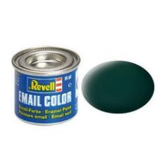 Revell Enamel Solid Matt Paint - Black Green