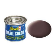 Revell Enamel Solid Matt Paint - Leather Brown