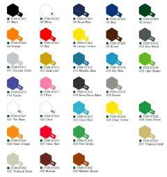 Tamiya Acrylic Gloss Paints (10ml) X1-X34