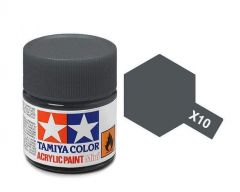 Tamiya Acrylic Gloss Paint (10ml) - Gun Metal