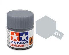 Tamiya Acrylic Gloss Paint (10ml) - Chrome Silver