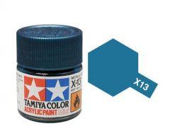 Tamiya Acrylic Gloss Paint (10ml) - Metallic Blue