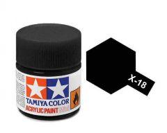 Tamiya Acrylic Gloss Paint (10ml) - Semi-gloss Black