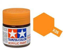 Tamiya Acrylic Gloss Paint (10ml) - Clear Orange