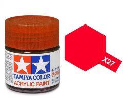 Tamiya Acrylic Gloss Paint (10ml) - Clear Red