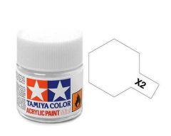 Tamiya Acrylic Gloss Paint (10ml) - White