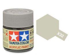 Tamiya Acrylic Gloss Paint (10ml) - Titanium Silver
