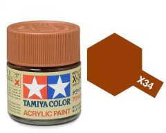Tamiya Acrylic Gloss Paint (10ml) - Metallic Brown
