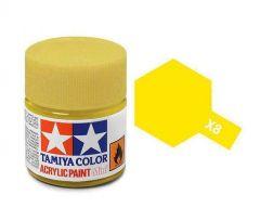 Tamiya Acrylic Gloss Paint (10ml) - Lemon Yellow