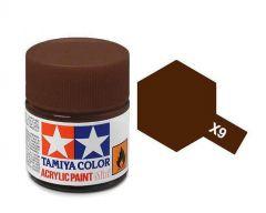 Tamiya Acrylic Gloss Paint (10ml) - Brown