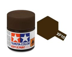 Tamiya Acrylic Flat Paint (10ml) - Flat Brown